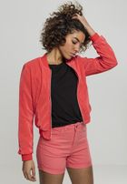 Urban Classics Ladies Short Pleated Blouson coral