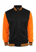 Urban Classics Neon College Jacket blk/ora