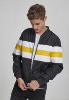 Urban Classics Striped Nylon Jacket black/white/chromeyellow