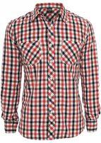 Urban Classics Tricolor Big Checked Shirt blkwhtred
