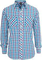 Urban Classics Tricolor Big Checked Shirt purwhttur