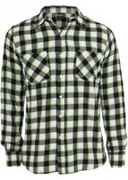 Urban Classics Tricolor Checked Light Flanell Shirt blkwhtlgr