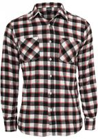 Urban Classics Tricolor Checked Light Flanell Shirt blkwhtred