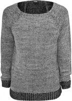 Urban Classics Wide Neck Sweater grey