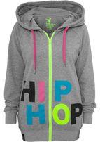 Urban Dance Hip Hop Ziphoodie lightgrey/multicolour