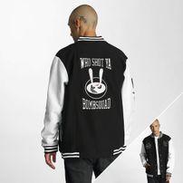 Who Shot Ya? Bombsquad College Jacket Black/White