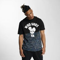 Pánske tričko Who Shot Ya? Darkcamou T-Shirt Black