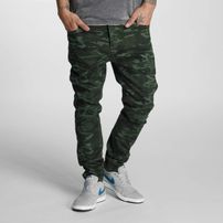 Who Shot Ya? Genius Antifit Jeans Oliv Camouflage