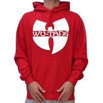 Wu-Wear Clan Logo Hoodie Red