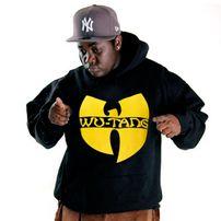 Wu-Wear Logo Hoodie Black