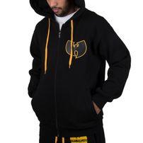 Pánská Mikina Wu-Wear Wu Tang Clan WU Protect Ya Neck Zip Hoodie Black Gold