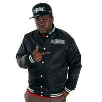 2-Pac Basic Logo College Jacket Black