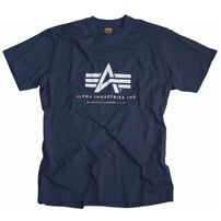 Pánske tričko Alpha Industries Basic T-Shirt Navy