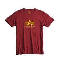 Pánske tričko Alpha Industries Basic T-Shirt Burgundy