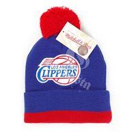 Mitchell & Ness NBA Jersey Stripe Cuff W Pom LA Clippers Beanie MN-NBA-KE31Z