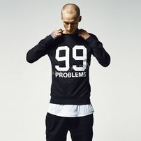 Mr. Tee 99 Problems Crewneck Black