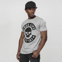 Mr. Tee Thug Life Skull Tee grey