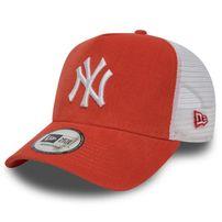 Šiltovka New Era 9Forty A Frame Trucker Cap NY Yankees Micro Cord Orange
