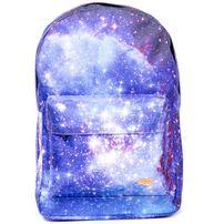 Spiral Galaxy Saturn Backpack Bag Black