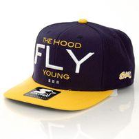 Streetz Iz Watchin Fly Young Snapback Navy Yellow
