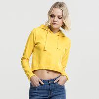 Dámska mikina Urban Classics Ladies Interlock Short Hoody chrome yellow
