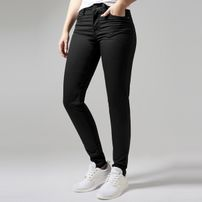 Urban Classics Ladies Skinny Pants black