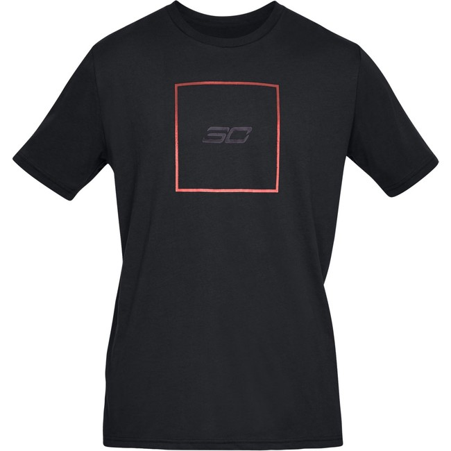 Under Armour SC30 BOX LOGO TEE-BLK - XXL