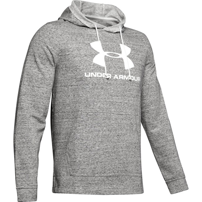 Under Armour SPORTSTYLE TERRY LOGO HOODIE-WHT - M