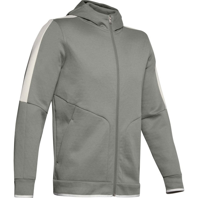 Under Armour Athlete Recovery Fleece Full Zip-GRN - L