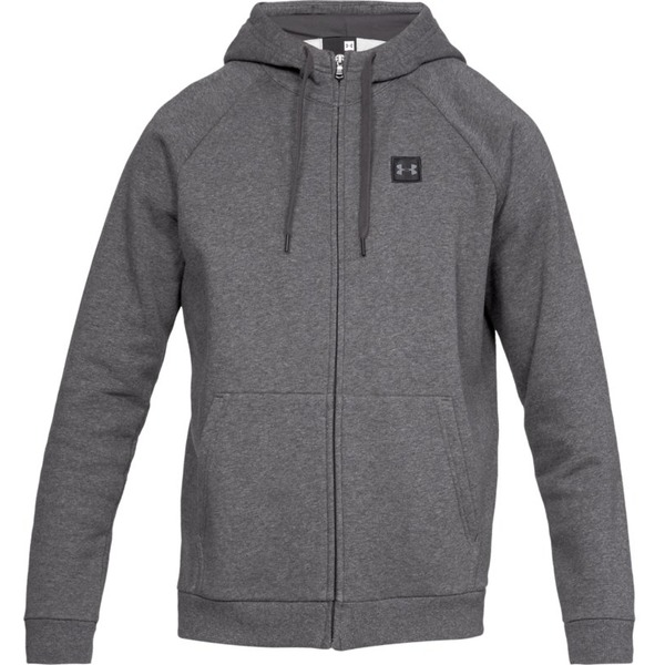 Under Armour RIVAL FLEECE FZ HOODIE-GRY - M