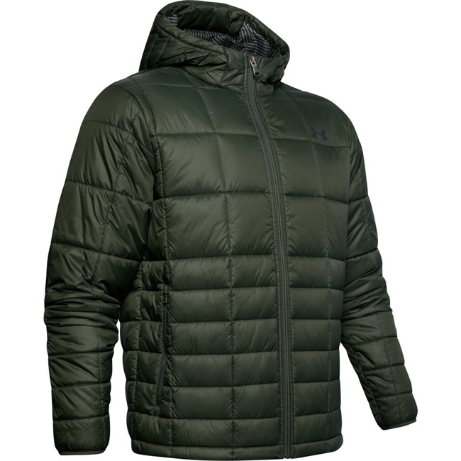 Under Armour UA Armour Insulated Hooded Jkt-GRN - S