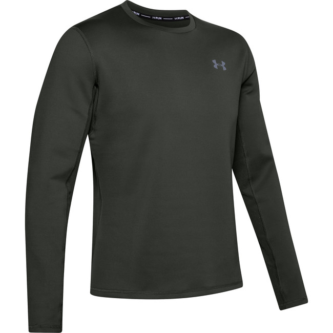 Under Armour UA QUALIFIER COLDGEAR LONGSLEEVE-GRN - XXL