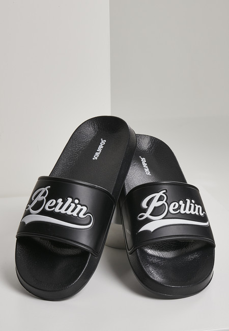 Urban Classics Berlin City Slides black/white - 37