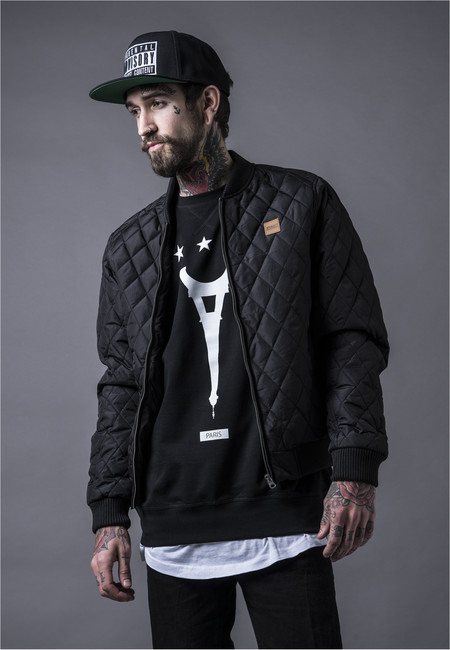 Urban Classics Diamond Quilt Nylon Jacket black - XL