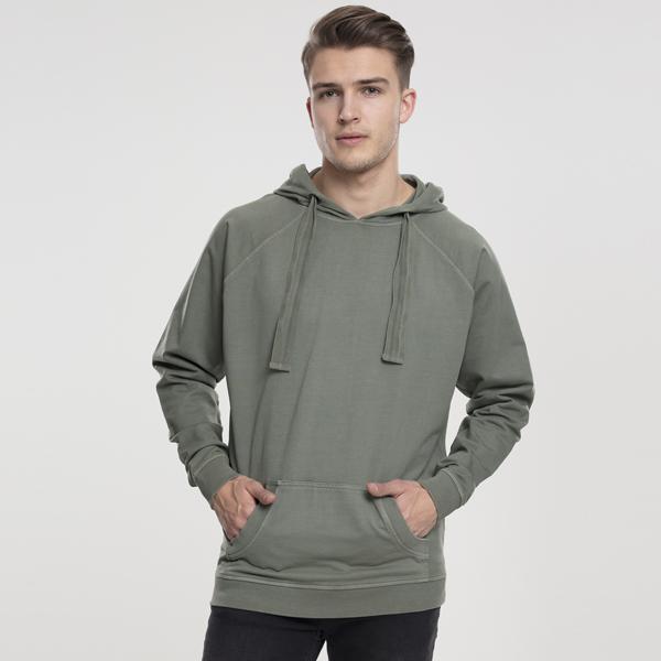 Pánska mikina Urban Classics Garment Washed Terry Hoody olive - XL
