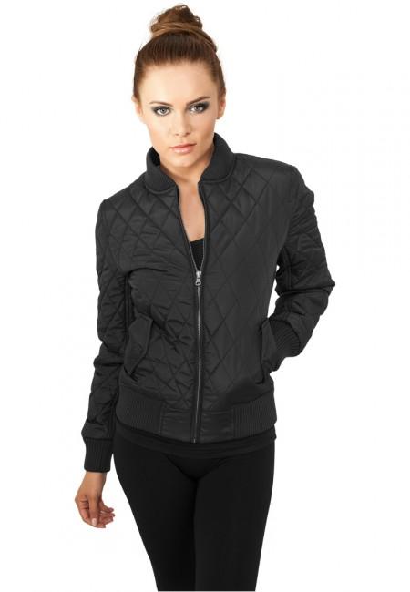 Urban Classics Ladies Diamond Quilt Nylon Jacket black - XL