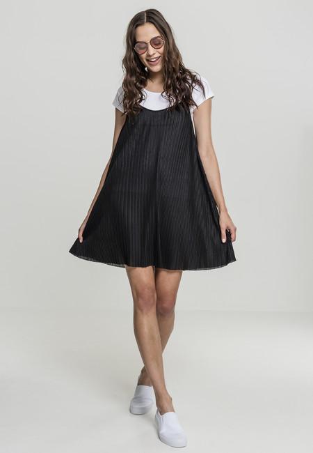 Urban Classics Ladies Jersey Pleated Slip Dress black - XS