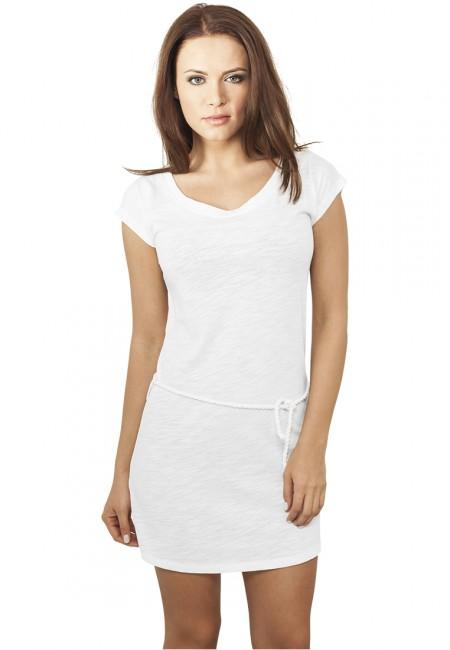 Urban Classics Ladies Slub Jersey Dress white - M