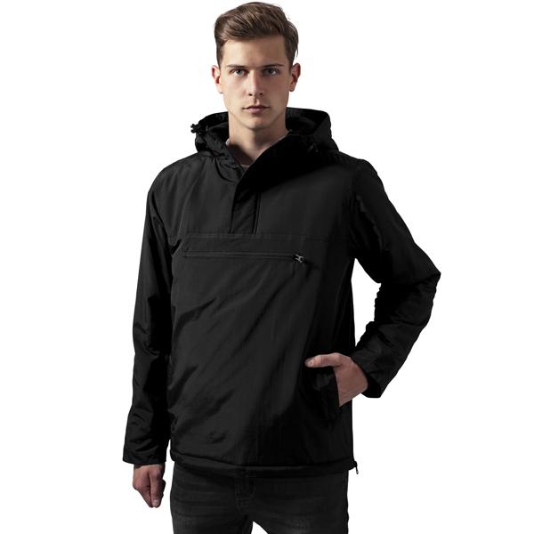 Pánska bunda Urban Classics Padded Pull Over Jacket black - XXL