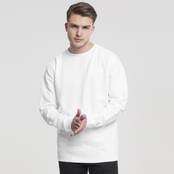 Pánska mikina Urban Classics Sweat Crewneck white - XL